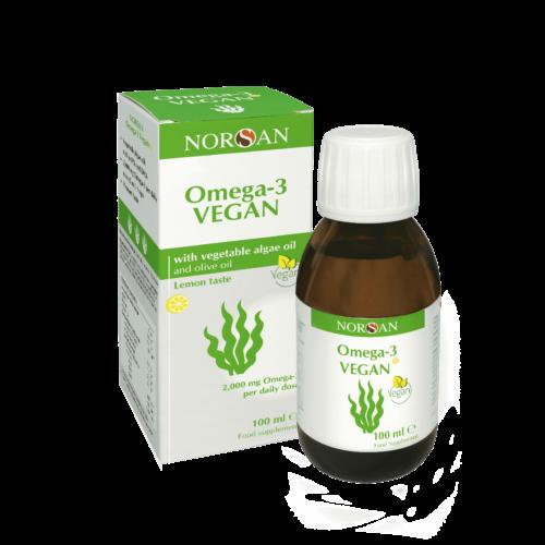 norsan omega-3 vegan bottle and box